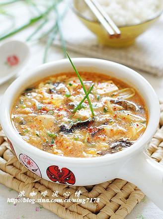 韩式泡菜酸辣羹的做法