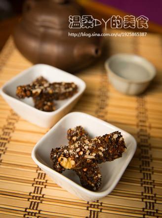 焦糖核桃瓜籽酥的做法