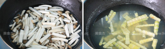 三鲜蘑菇煲的家常做法