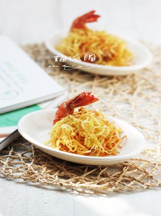 金丝凤尾虾的做法