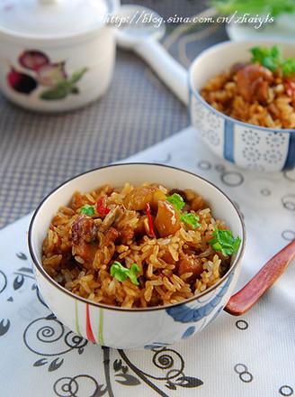 栗子焖鸡饭的做法