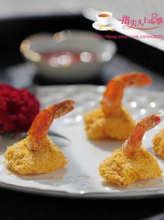 香炸凤尾虾的做法