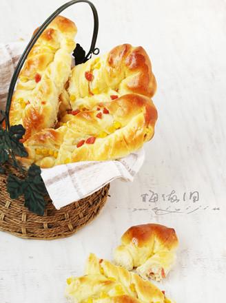 火腿玉米面包条的做法