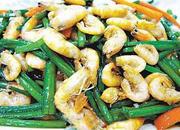 韭菜花炒江虾