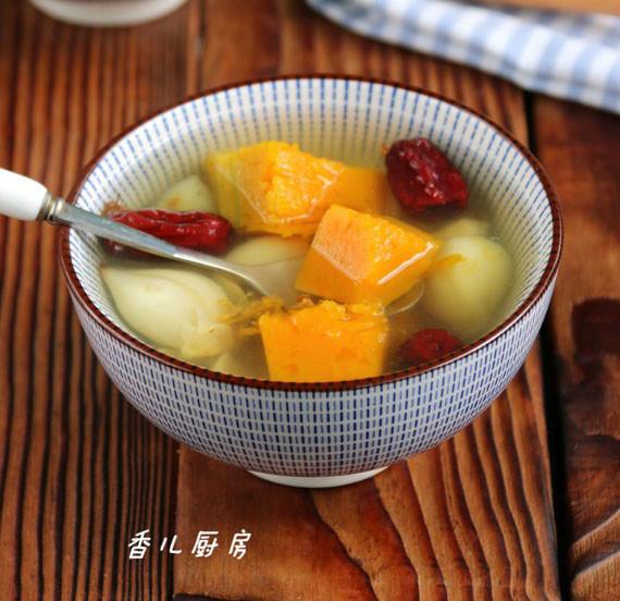 桂花百合南瓜汤