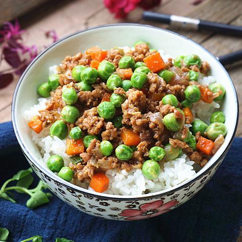 肉沫甜豆饭