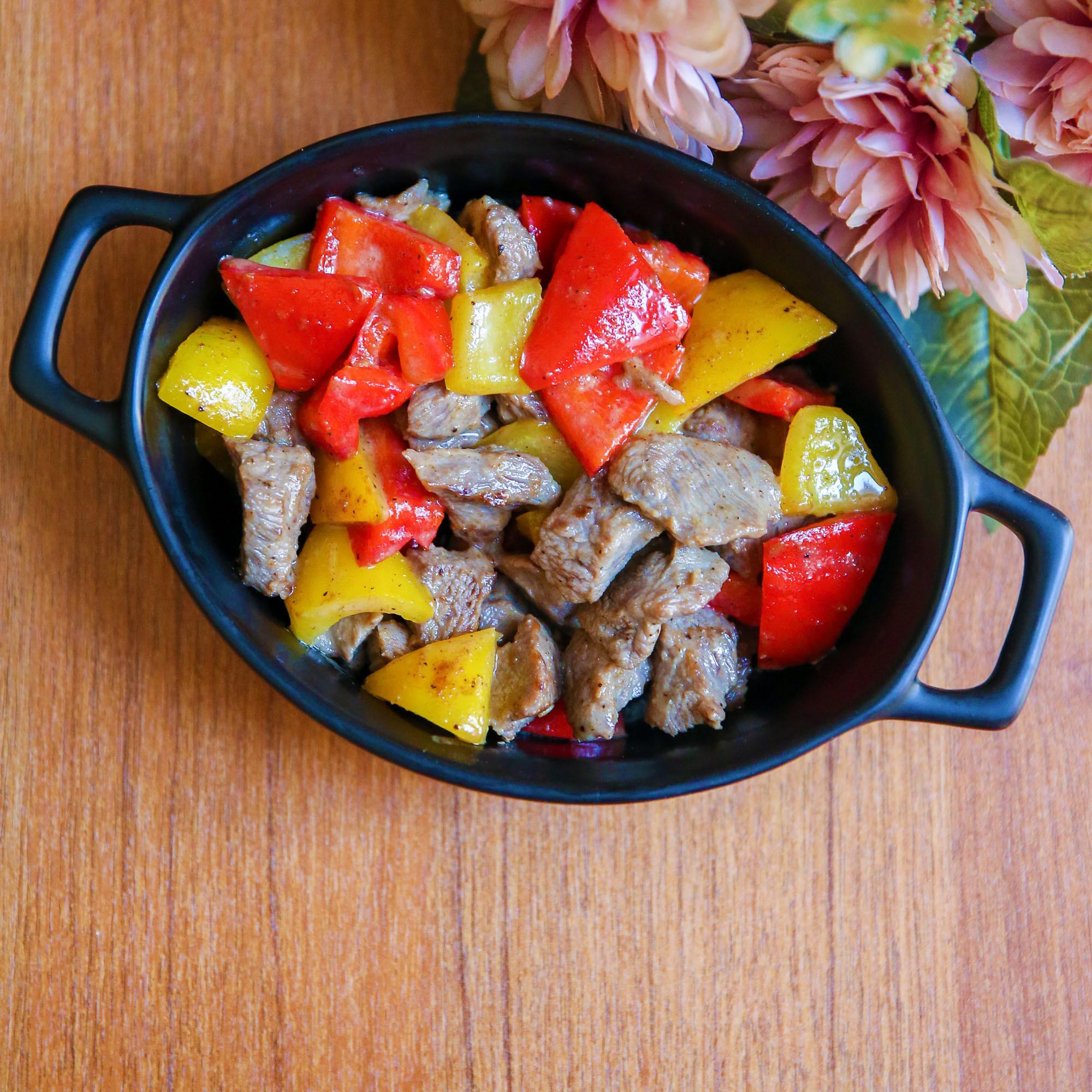 烤味彩椒肉片