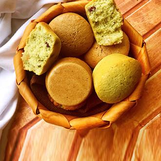 抹茶红豆小蛋糕