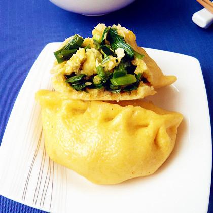 韭菜鸡蛋混合面蒸饺