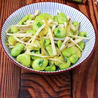 雪菜笋丝炒豆瓣