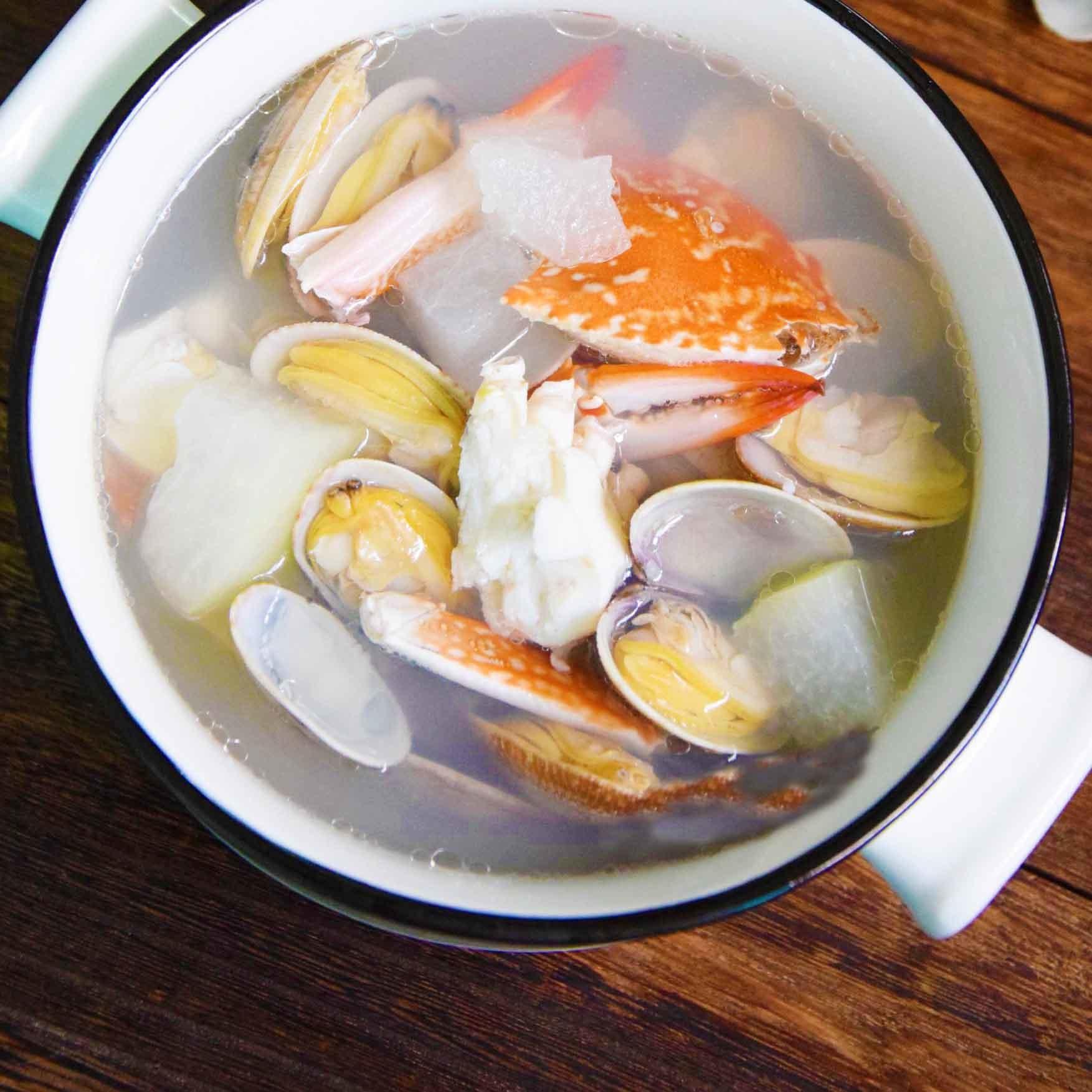 双花海鲜汤