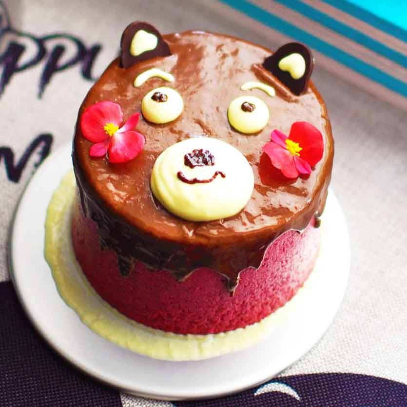 可爱熊本蛋糕