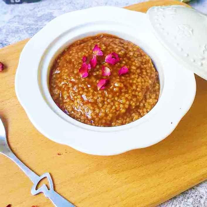 玫瑰黑糖小米粥