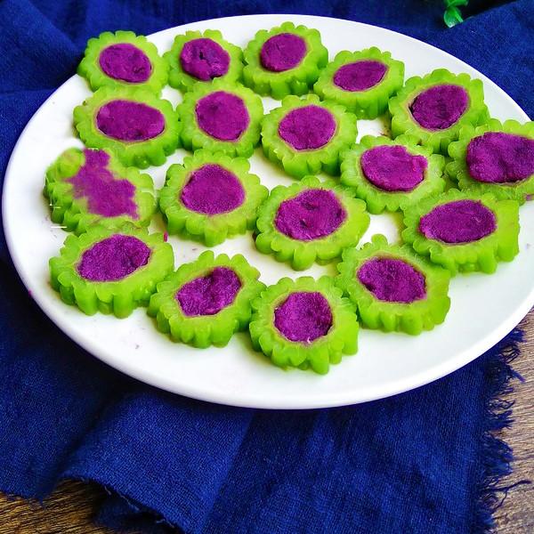 苦瓜紫薯凉糕