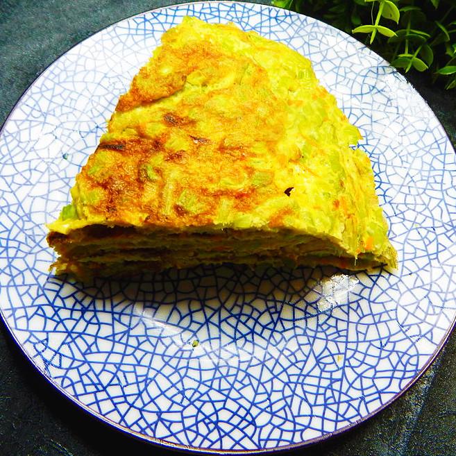 芹菜煎鸡蛋