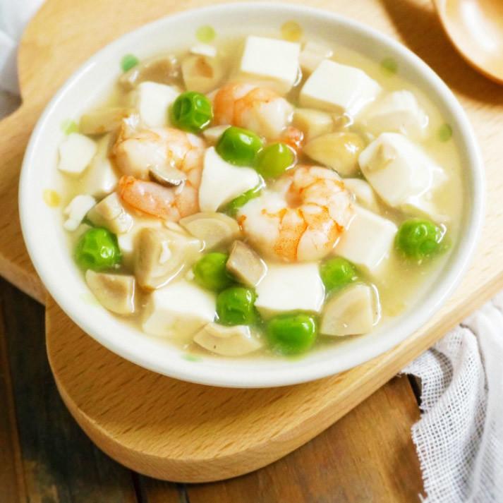 减肥 虾仁烩豆腐