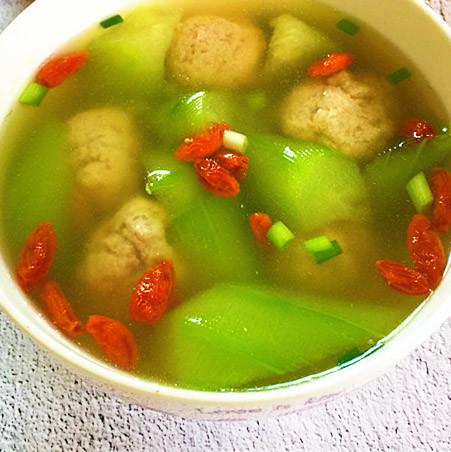 润肠 丝瓜肉丸汤
