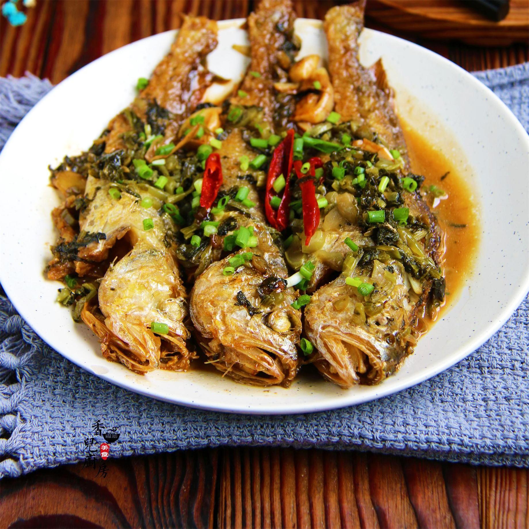 美味|雪菜烧小黄鱼