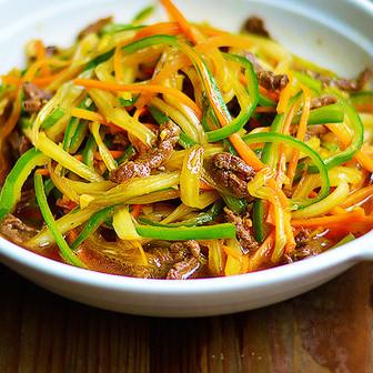 营养|杂蔬牛肉丝