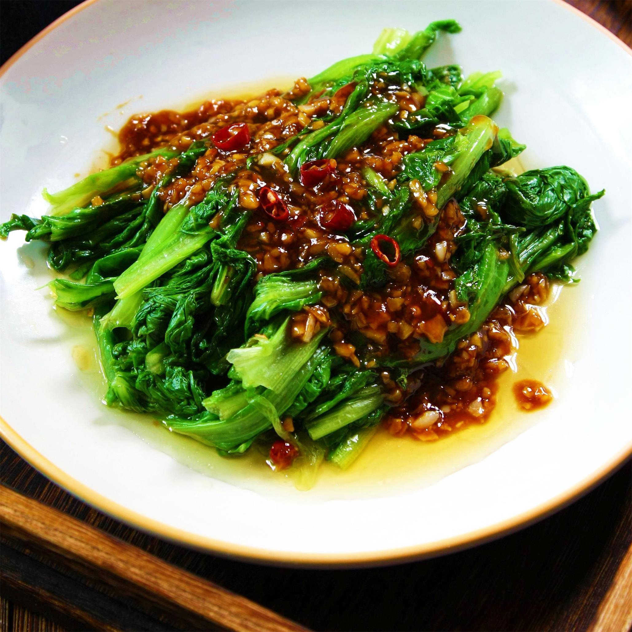 简单|蚝油蒜蓉生菜