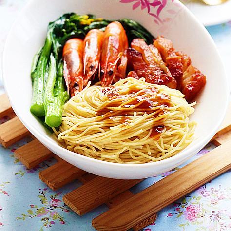 营养|叉烧鲜虾捞面