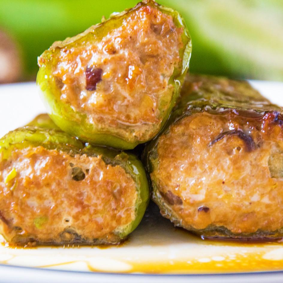 美味|虎皮青椒釀肉