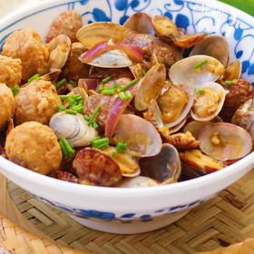 鮮美|花蛤炒肉丸