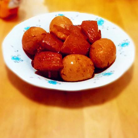 肉香|紅燒肉熏雞蛋