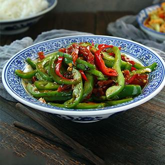 腊肠炒青椒
