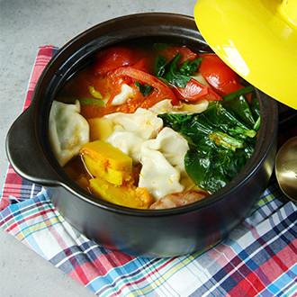 什锦蔬菜烩饺子