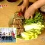 韩国美食菜包肉