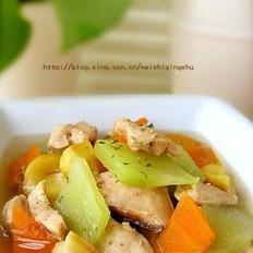 栗子鸡球汤