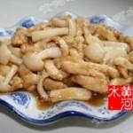 白玉菇滑鸡柳
