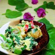 木耳菜炒鸡蛋