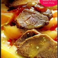 咖喱番茄牛肉面