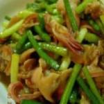 蒜苔炒扇贝