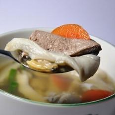 猪肝蛤蜊汤