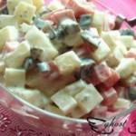 松花火腿土豆沙拉的做法