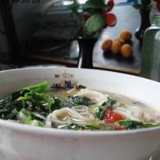 野菜热汤面