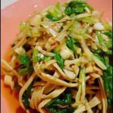 菠菜拌干豆腐丝
