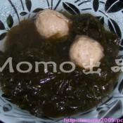 虾米紫菜牛丸汤