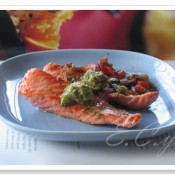 橄榄油核桃酱三文鱼