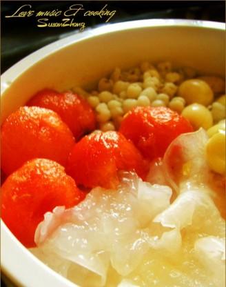 薏米银饵莲子西瓜冰粥的做法
