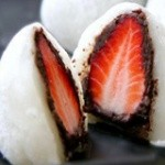 草莓豆沙糯米团