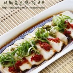 双椒蒸豆腐