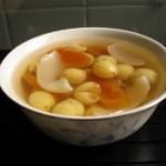 冰糖百合蓮子柿饼