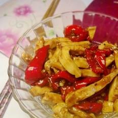 豆干炒红椒