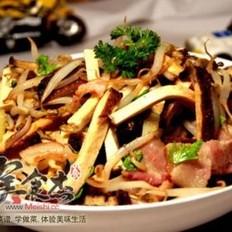 培根豆腐干炒豆芽