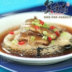 香菇火腿蒸鳕鱼