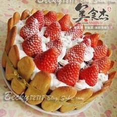 草莓巧克力棋格慕斯